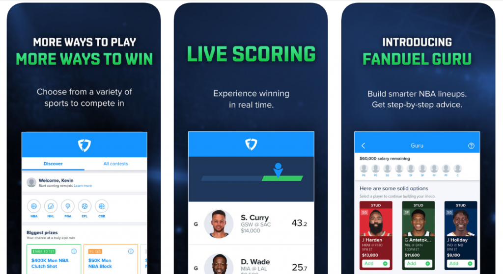 apps for daily fantasy sports